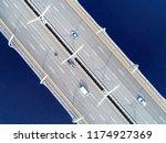 aerial view of highway in the... | Shutterstock . vector #1174927369