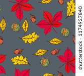 autumn seamless pattern ... | Shutterstock .eps vector #1174927840