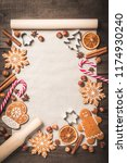holiday food background for... | Shutterstock . vector #1174930240