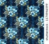 floral seamless pattern. lovely ... | Shutterstock . vector #1174946599