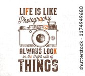typography poster with old... | Shutterstock . vector #1174949680