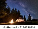 Camping Site In Mountain Valle...