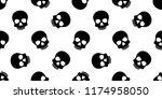 skull crossbones seamless... | Shutterstock .eps vector #1174958050