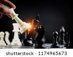 chess game with business combat ... | Shutterstock . vector #1174965673