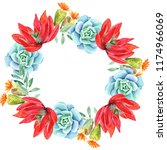 frames for congratulation with ... | Shutterstock . vector #1174966069