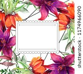 frames for congratulation with ... | Shutterstock . vector #1174966090