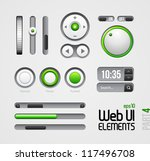 web ui elements design gray...