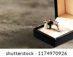 miniature couple with... | Shutterstock . vector #1174970926