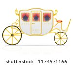 royal carriage for... | Shutterstock . vector #1174971166