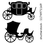 carriage for transportation of... | Shutterstock . vector #1174971169