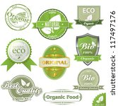 vector eco labels and stamps | Shutterstock .eps vector #117497176