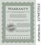 green retro vintage warranty... | Shutterstock .eps vector #1174972513
