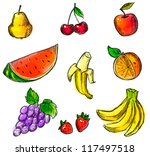 Colorful Fruits Collection  ...