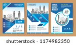 vector design for cover  layout ... | Shutterstock .eps vector #1174982350
