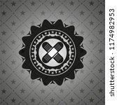 crossed bandage plaster icon... | Shutterstock .eps vector #1174982953