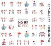 the big set of funny clerk.... | Shutterstock .eps vector #1174984273