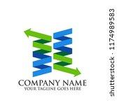 creative flat logo vector... | Shutterstock .eps vector #1174989583
