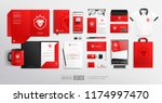 vector corporate brand identity ... | Shutterstock .eps vector #1174997470