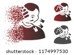 boxing strike icon with face in ... | Shutterstock .eps vector #1174997530