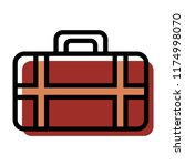 suitcase icon vector... | Shutterstock .eps vector #1174998070