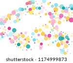 memphis round confetti airy... | Shutterstock .eps vector #1174999873