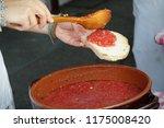 fresh homemade crispy italian... | Shutterstock . vector #1175008420