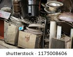 pile of iron scrap  | Shutterstock . vector #1175008606