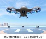 Metallic Gray Passenger Drone...