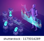 cryptocurrency trading bot.... | Shutterstock .eps vector #1175016289