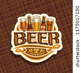vector logo for beer  white... | Shutterstock .eps vector #1175017150
