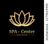 vector logo template for spa... | Shutterstock .eps vector #1175019490