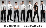 set with security guards on... | Shutterstock . vector #1175025253