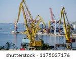 sea cargo port. | Shutterstock . vector #1175027176