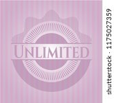unlimited pink emblem. retro | Shutterstock .eps vector #1175027359