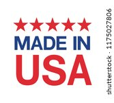 made in usa sign vector | Shutterstock .eps vector #1175027806