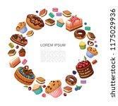 cartoon desserts round concept...   Shutterstock .eps vector #1175029936