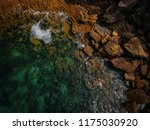 aerial view of waves  rocks and ... | Shutterstock . vector #1175030920