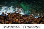 aerial view of waves  rocks and ... | Shutterstock . vector #1175030923