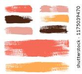 brush strokes set backgrounds.... | Shutterstock .eps vector #1175039470