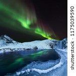 aurora borealis  northern... | Shutterstock . vector #1175039590