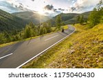 motorcycle driver riding in... | Shutterstock . vector #1175040430