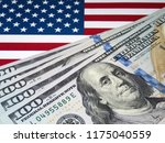 us dollars on background of us... | Shutterstock . vector #1175040559