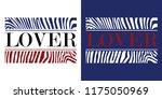 lover slogan t shirt design... | Shutterstock .eps vector #1175050969