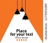 modern interior.vector isolated ... | Shutterstock .eps vector #1175051089