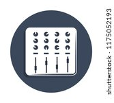 sound mixer icon in badge style....
