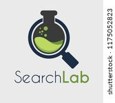 vektor search lab with... | Shutterstock .eps vector #1175052823