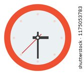 wall clock without numbers... | Shutterstock .eps vector #1175053783