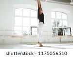 fitness woman doing sports... | Shutterstock . vector #1175056510