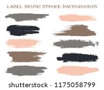 modern label brush stroke... | Shutterstock .eps vector #1175058799