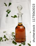 mentha booze spirit with flying ... | Shutterstock . vector #1175063023